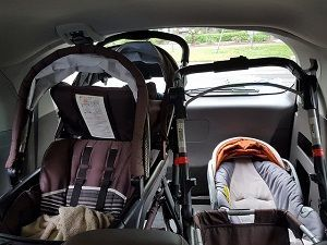Will this double stroller fit in my car