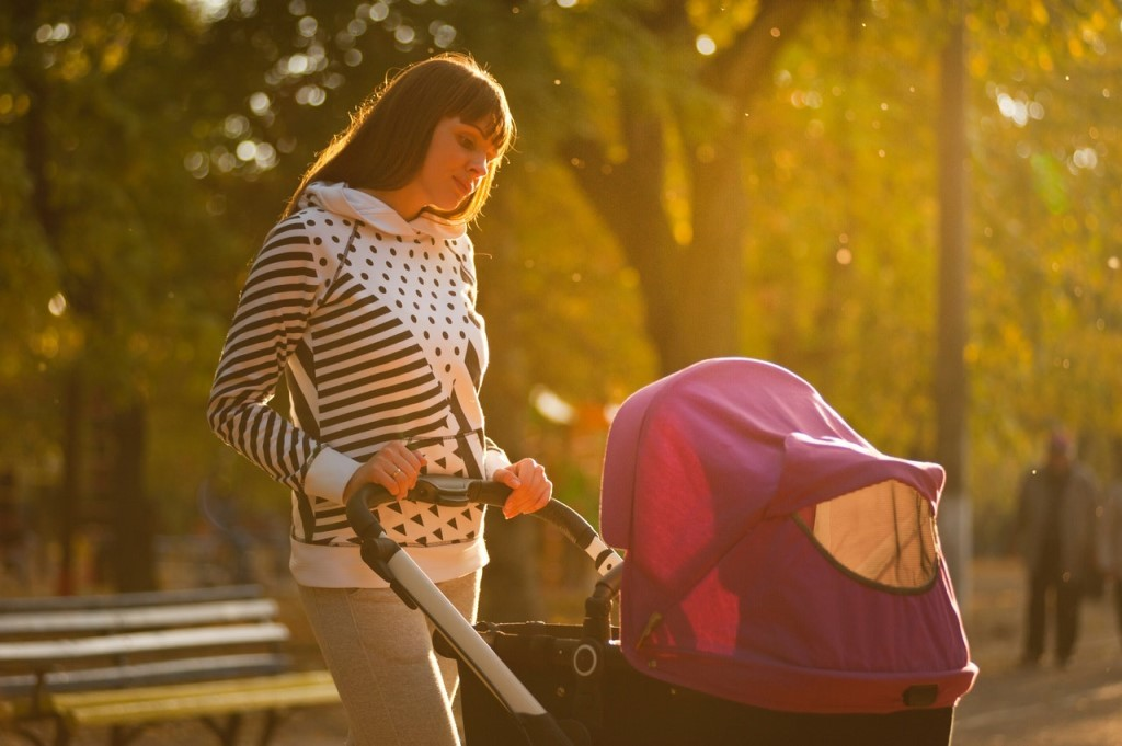 When can you put baby in stroller without car seat