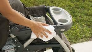 How do you disinfect a stroller frame